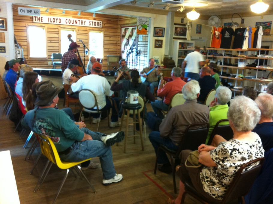 Sunday Jam Session at the Floyd Country Store