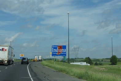 We drove through Indiana