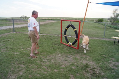 At the dog park in South Dakota