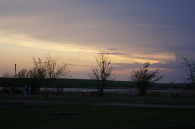 Sunset at Belvidere East Campground