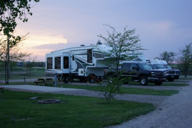 Belvidere East KOA Site 26 at Sunset