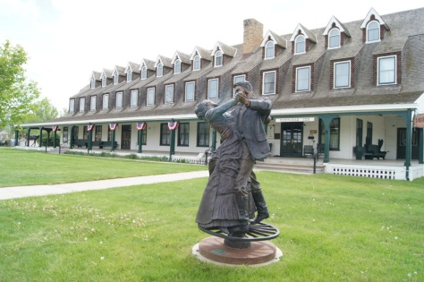 Beautiful Sculpture in front of the Sheridan Inn
