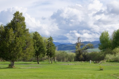 Mountains in the distance in Cardwell, Montana