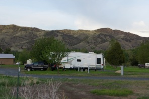 Our campsite in Cardwell, Montana