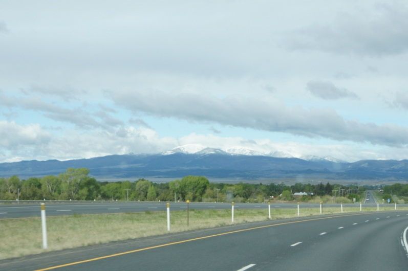 We could see the mountains as we drove between Cardwell and Great Falls, Montana