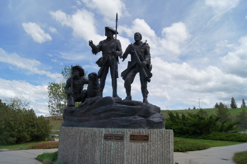 Statue honoring Lewis and Clark at the Visitor's Center
