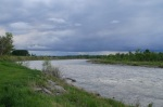 Evening Sky over the Oldman River in our campground