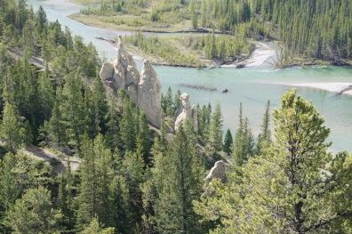 Hoodoos beside the Bow River