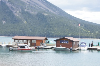 Lake Minnewanka boat docks