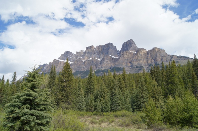 We stopped to see Castle Mountain on the way to Lake Louise