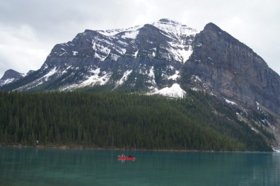 These paddlers were enjoying Lake Louise