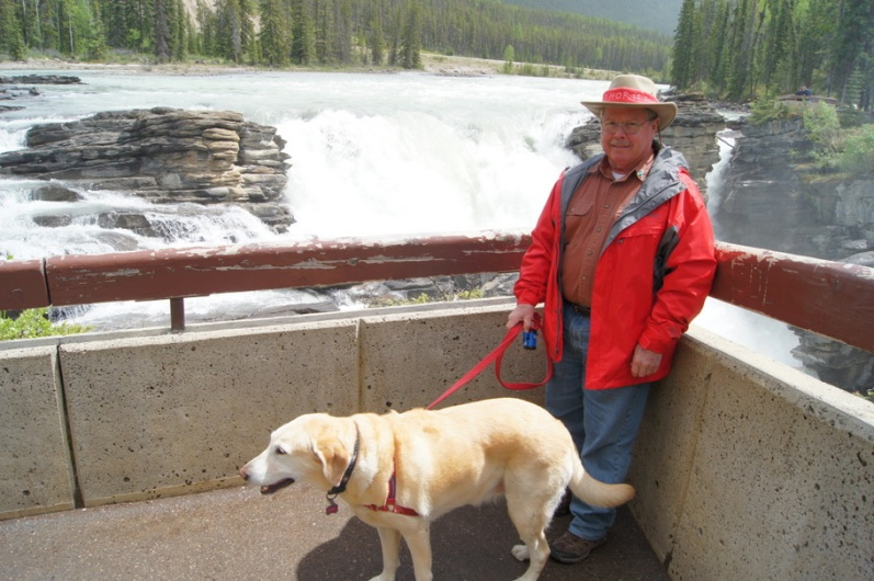 Henry and Blondie enjoyed the falls