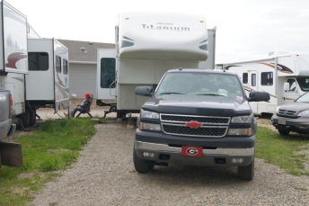 Our campsite in Dawson Creek