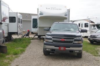Our campsite in Dawson Creek