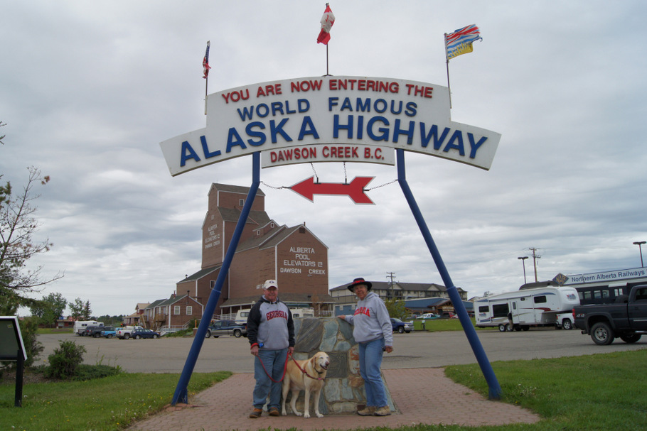 Mile Zero of the Alaska Highway! in Dawson Creek, BC