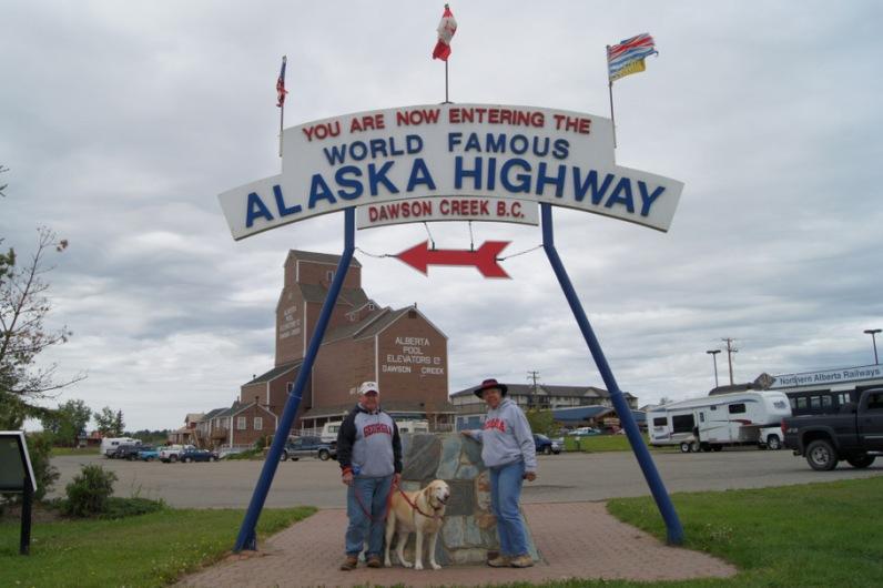 Mile Zero of the Alaska Highway! in Dawson Creek, BC