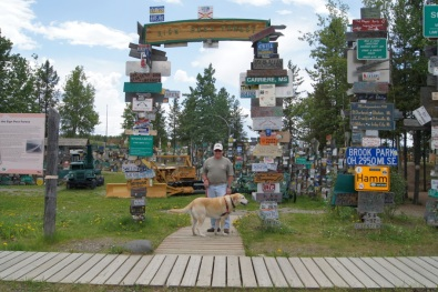 The Sign Post Forest in Watson Lake, Yukon