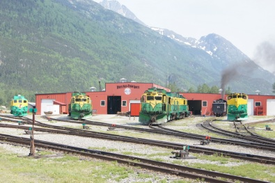 White Pass & Yukon Route train engines