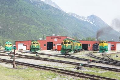 White Pass & Yukon Route train engines