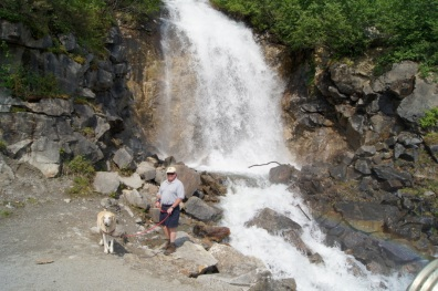Waterfalls along the Klondike Highway