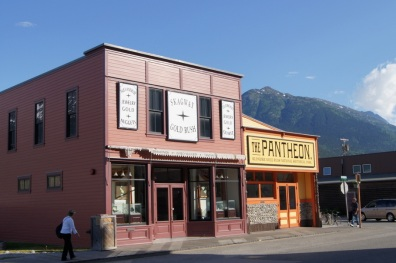 Historical buildings in downtown Skagway