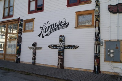 Totems in downtown Skagway