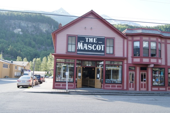 This building is part of the Klondike Gold Rush National Historical Park. Inside is a replica of a saloon.