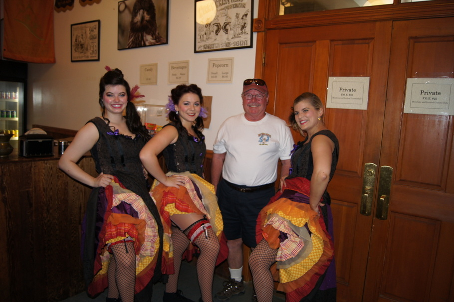 Henry with the dance hall girls