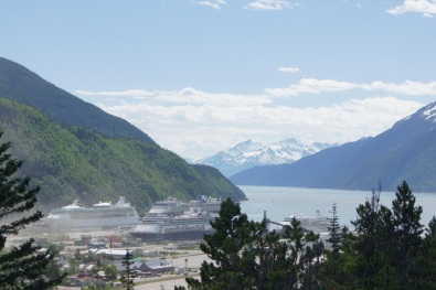 Skagway Harbor from overlook on Dyea Raod