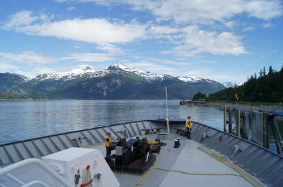Arriving at the Haines ferry dock