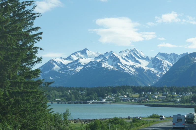 Driving into Haines, Alaska