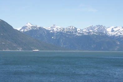 We watched the ferry from our campground as it was leaving Haines