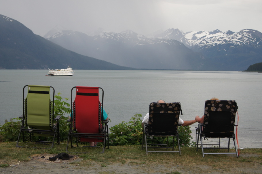 Watching for whales in Haines, Alaska