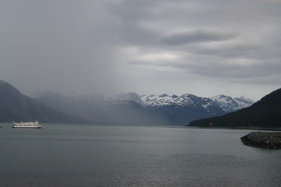View from our campground in Haines