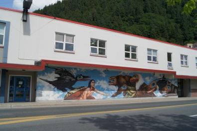 Mural in downtown Juneau