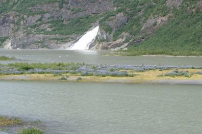 Waterfalls at the glacier