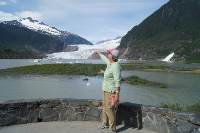 At the Mendenhall Glacier