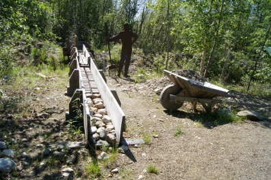 An old sluice used in gold mining