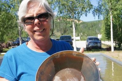 Panning for gold in Dawson City, Yukon