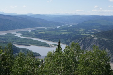 Yukon River from atop Midnight Dome