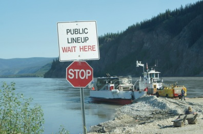 The free George Black Ferry crosses the Yukon River from Dawson City to Top of the World Highway.