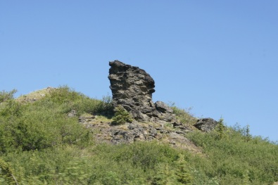 An interesting rock formation along the road