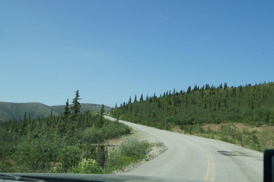 A paved section! Top of the World Highway