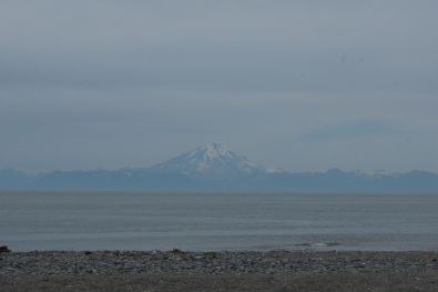 View of Mount Redoubt from our campsite