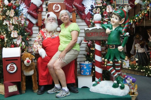 Beth with Santa