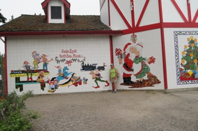 Beth at the Santa Claus House