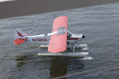After landing, the pilot came next to the boat