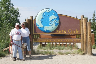 The Arctic Circle on the Dalton Highway in Alaska