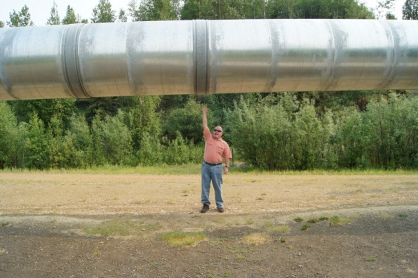 At a section of the pipeline in Fairbanks
