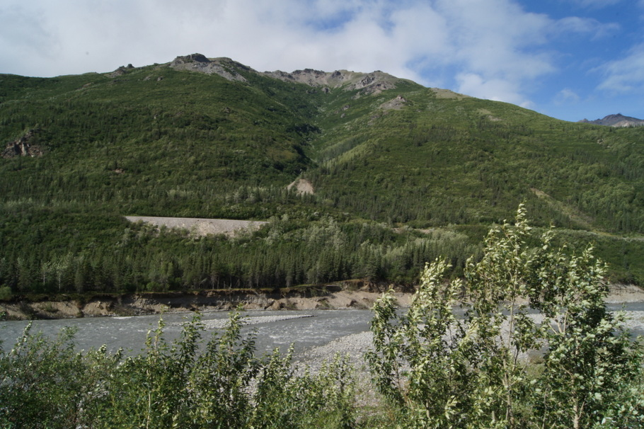The road follows the Nenana River